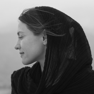 Andrea Bruce on assignment in Bamiyan, Afghanistan.  Photo by Jonathan Levinson